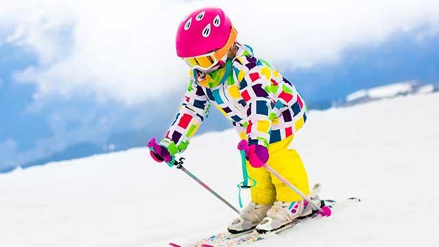 お子様のスキーの様子2