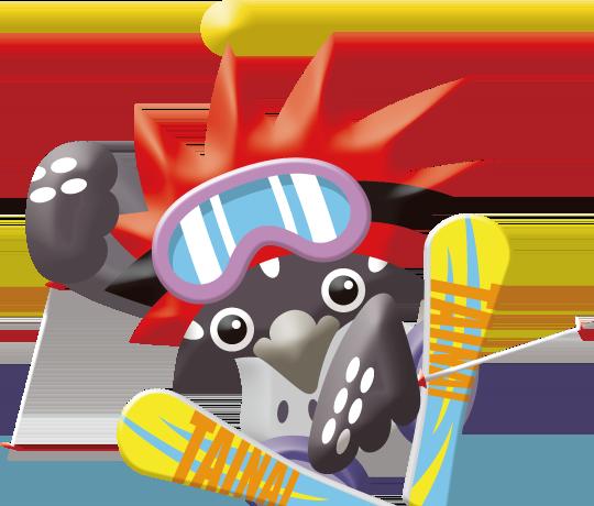 胎内スキー場キャラクター